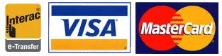 Accepting Interact, Visa and Mastercard credit cards online.