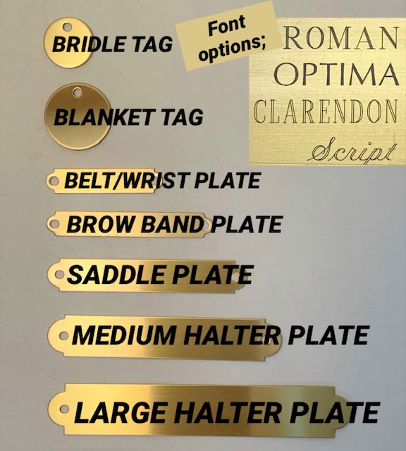 Name Plate Engraving options